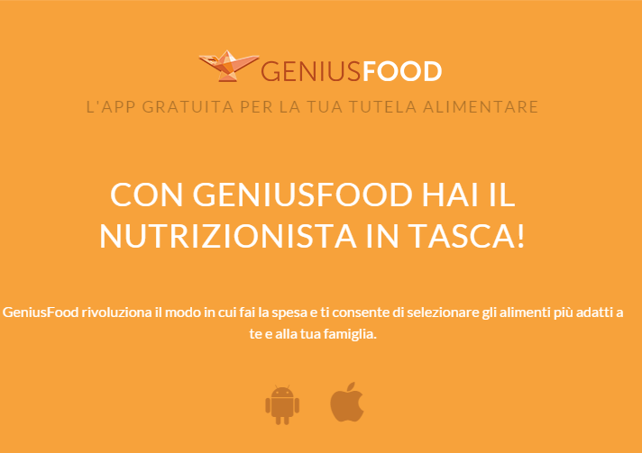 Genius Food: la prima app che ti aiuta a far la spesa