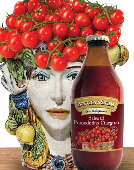 La salsa di pomodorino ciliegino e datterino